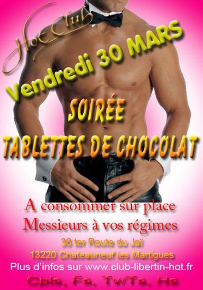 Soirée tablettes de chocolat